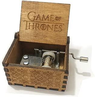 Pure Hand Classic Game of Thrones Caja de música de mano Caja de música de madera Artesanías de madera creativas Los mejores regalos, Juego de tronos
