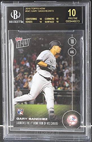 MLB Gary Sanchez New York Yankees 2016 Topps Now Rookie Card #341 BGS 10 Black Label