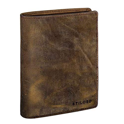 STILORD 'Emil' Cartera Hombre Piel Elegante diseño Vintage Monedero Billetera para Tarjetas...