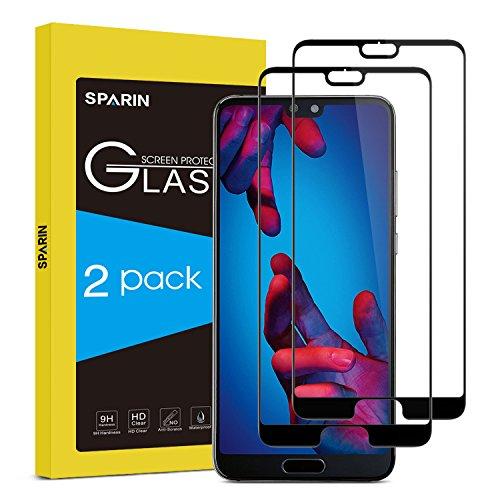 SPARIN Pellicola Vetro Temperato Compatibile con Huawei P20, Pellicola Protettiva per Huawei P20 [Copertura Completa] [Ultra Resistente] [Durezza 9H]