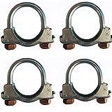 U Abrazaderas para tubos de escape para uso pesado, abrazaderas en U para tornillos de desagüe o para TV Antena catalizador Conector filtro dpf (50 mm)