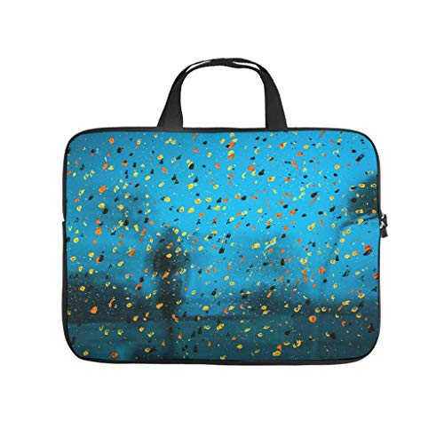 Human Silhouette Colour Blurred Glass Abstract Laptop Bag Waterproof Laptop Protective Bag Notebook Bag for University Work Business
