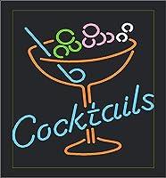 ネオンサイン Cocktails BAR NEON SIGNO ディスプレイ サインボード ギフト 省エネ バー カフェ 喫茶店 広告用看板 クラブ及び娯楽場所等 インテリア 16*14インチ ME452