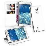 Cadorabo Hülle kompatibel mit Samsung Galaxy Note Edge Hülle in ARKTIS WEIß Handyhülle mit Kartenfach & Standfunktion Schutzhülle Etui Tasche