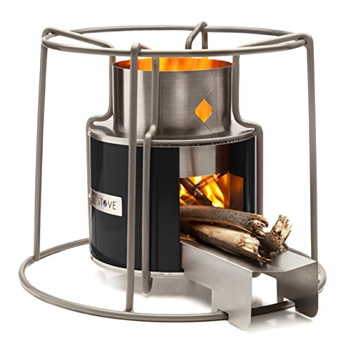 Affirm Global IT117469B-Black Wood Burning EZY Stove, Black