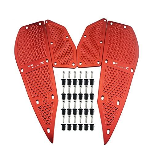 1 Juego de 4 piezas para Y&amaha xmax 300 x max 300 XMAX 250 2011-2016 placas de Pedal de reposapiés accesorios de scooter de motocicleta almohadilla de reposapiés (Color : B)