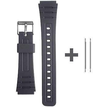 Ociodual Bracelet Réglable pour Montre Casio F 91W de 18 mm  EtaK7