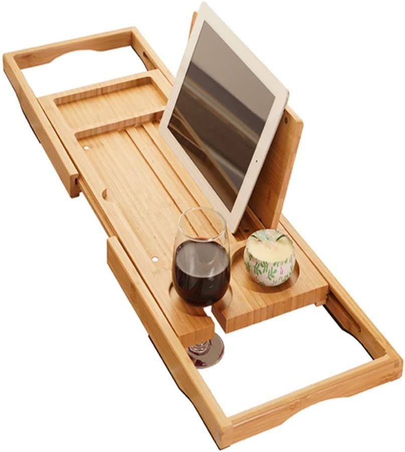 ZXY-NAN Bathtub Trays Tray with Bath Bamboo Colorado Popular standard Springs Mall Tablet
