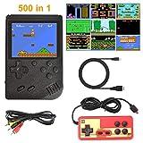 Laelr Handheld-Spielekonsole, Retro-Spielekonsole mit 500 klassischen FC-Spielen, Tragbarer...