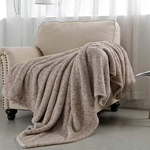 SOCHOW Sherpa Fleece Throw Blanket, All Seasons Lightweight Fuzzy Warm Super Soft Plush Blanket for Bed, Sofa and Couch , 60 x 80 inches, Camel
