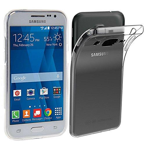 ebestStar - Cover Compatibile con Samsung Galaxy Core Prime SM-G360F, 4G SM-G361F VE Custodia Trasparente Silicone Gel TPU Protezione Morbida, Trasparente [Apparecchio: 130.8x67.9x8.8mm, 4.5'']