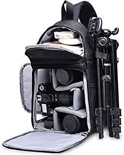 CADEN DSLR Camera Sling Bag Backpack Waterproof, Camera Case Sling Backpack with Tripod Holder, Side Access and Modular Inserts for Mirrorless Cameras Canon Nikon Sony Pentax