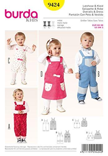 Burda Schnittmuster Latzhose & Kleid 9424