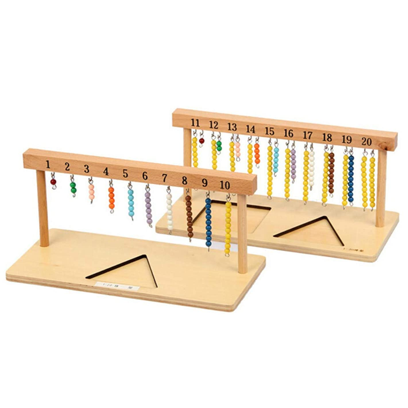 Baby Toy Montessori 1-20 Beads Hanging Frame Wood for Early Childhood Education Preschool Kids Brinquedos Juguetes Yellow