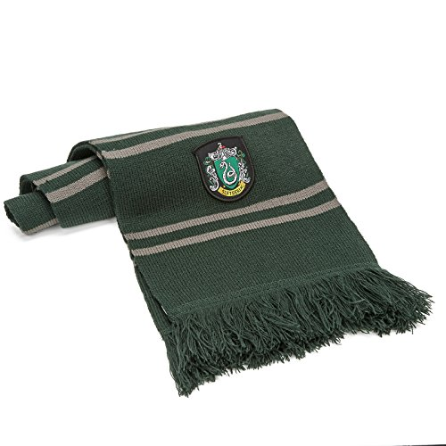 Cinereplicas Harry Potter Schal 190cm ● Ultra Soft Stoff ● Zip-Beutel (Slytherin)