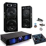 Partido PA 2400W cajas máquina de karaoke amplificador mezclador cable del micrófono USB MP3...