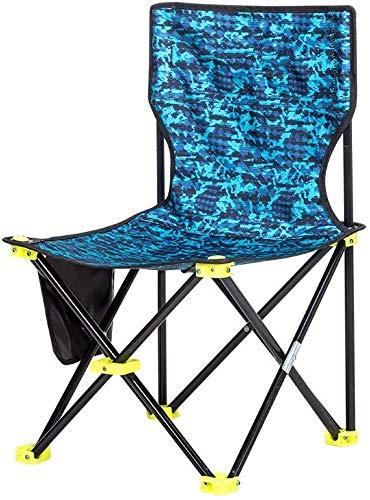 QTQZDD campingstoel, klapstoel, draagbaar, outdoor wandelaar, strand, vissen, camping, schets, vrije tijd, mazar kruk/blauw/maximale belasting 140 kg 1 1