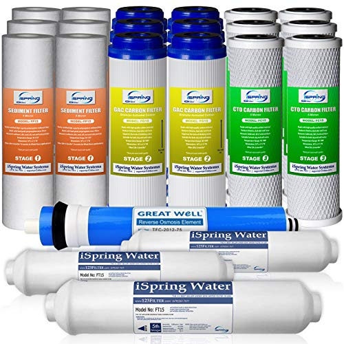 iSpring F22-75 3-Year Replacement Supply Filter Cartridge Pack ...