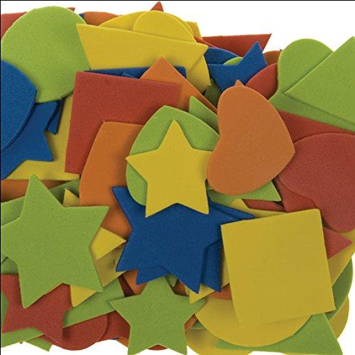 i-mondi® Moosgummi-Formen, 100 Stück, Farben und Größen Sortiert