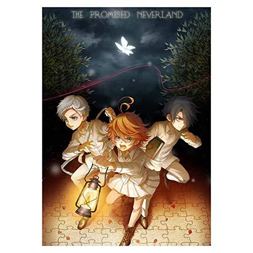 Car-tobby Anime The Promised Neverland Regalo de Cumpleaños Pared Decoración Hogar Rollo Póster (H04)