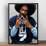 Póster De Snoop Dogg, De Música De Estrella De Cantante, Arte De Pared, Carteles De Rapero De Hip Hop Gangsta Rap, Cuadros De Pared Para Decoración Del Hogar De La Habitación A-1556 (40X50Cm)