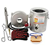 Propane Melting Furnace kit, Made of 304 Stainless Steel Barrel, 6kg Graphite Crucible and Various Kits, can melt Metal, with fire Tongs and high Temperature Gloves