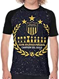 Club Atlético Peñarol Uruguay Futbol 1 Mans Short Sleeve Baseball T-Shirt Classic Round Neck Ultra Cotton tee Tops,Black,X-Large
