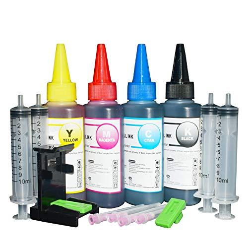 LIUYB Tinta de Impresora for HP 305 XL Cartucho de Tinta for HP DeskJet 2300 2700 4100 HP Envy 6000 6400 HP 305 Cartucho de Tinta Cartucho de Recambio Kit100ml (Color : 400ml Ink with Tool)