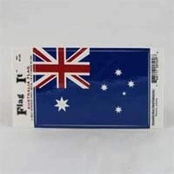AUSTRALIA FLAG LAMINATED CAR SELF ADHESIVE VINYL DECAL STICKER NEW