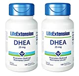 Life Extension Dhea , 25 Mg Tablets, 100-count x 2