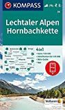 Lechtaler Alpen, Hornbachkette: 4in1 Wanderkarte 1:50000 mit Aktiv Guide und Detailkarten inklusive Karte zur offline Verwendung in der KOMPASS-App. ... 1:50 000 (KOMPASS-Wanderkarten, Band 24)