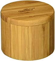 Estilo Single Round Salt or Spice Box with Lid, Bamboo -