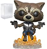 Marvel: Guardians of The Galaxy Vol. 2 - Flying Rocket Raccoon Funko Pop! Vinyl Figure (Includes Compatible Pop Box Protector Case)