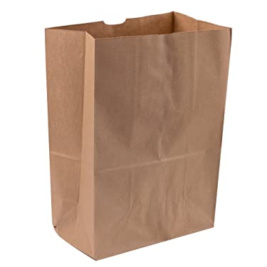 Duro Heavy Duty Kraft Brown Paper Barrel Sack Bag, 57 Lbs Basis Weight, 12 x 7 x 17, 50 Ct/Pack, 200 Pack