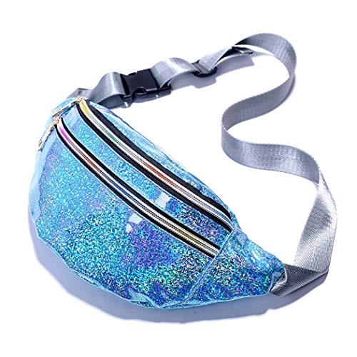 FunPa borsttas mode glitter holografische sport tailletas riemtas schoudertas