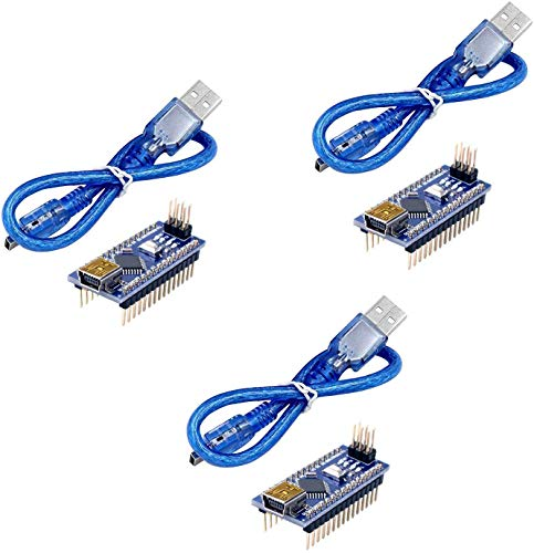 Longruner for ArduinoIDE ATmega328P 5V 16M Micro Controller Board Module with USB Cable for ArduinoIDE 3pcs
