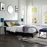 LIFE CARVER Upholstered <span class='highlight'>Double</span> <span class='highlight'>Bed</span> Frame Black <span class='highlight'>Bed</span> Platform Solid with tall <span class='highlight'>Headboard</span> Faux <span class='highlight'>Leather</span> <span class='highlight'>Bed</span>room Furniture 140x200 cm