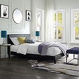 Best Twin Platform Bed - LIFE CARVER Upholstered Double Bed Frame Black Bed Review
