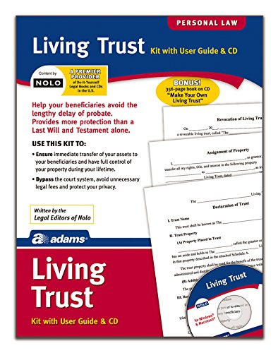 Adams Living Trust Kit, Forms and Instructions, Includes CD (K305) , White