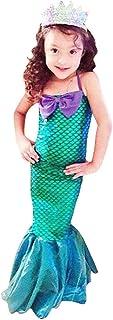 OBEEII Vestido de Fiesta Disfraz Sirena Niña Fiesta Boda
