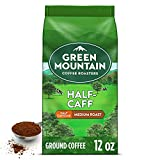 Green Mountain Coffee Half Caff Keurig Single-Serve K Cup Pods, Medium Roast Coffee, Bagged 12oz., Half Caff, 12 Oz