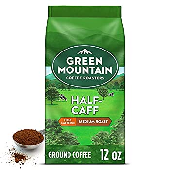 Green Mountain Coffee Half Caff Keurig Single-Serve K Cup Pods Medium Roast Coffee Bagged 12oz Half Caff 12 Oz