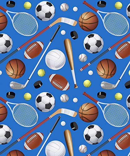 Sports Enthusiast Gift Wrapping Paper Roll - 24' x 15'