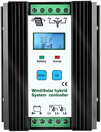 iSunergy 1000W Wind Solar Hybrid Charge Controller PWM 600W Wind 400W Solar Boost Charge Technology product image