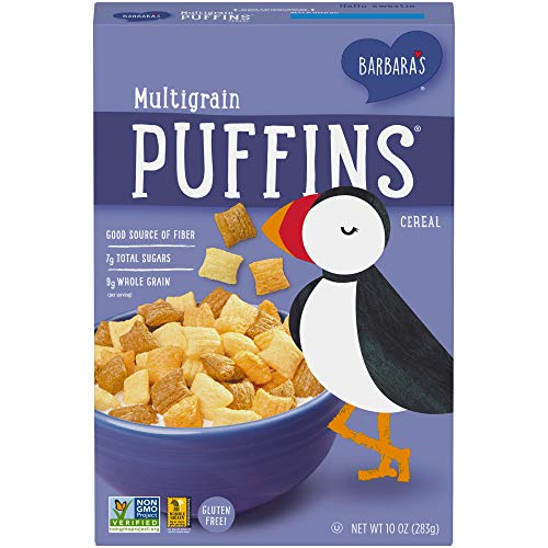 Three Sisters Barbara's Puffins Multigrain Cereal, Gluten Free, Non-GMO, 10 Oz Box