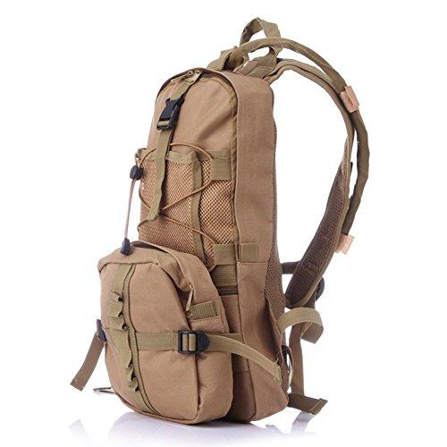 T&Y T & Y Outdoor Sports Rucksack für Fahrrad Trekking Trinkrucksack 2,5l, khaki