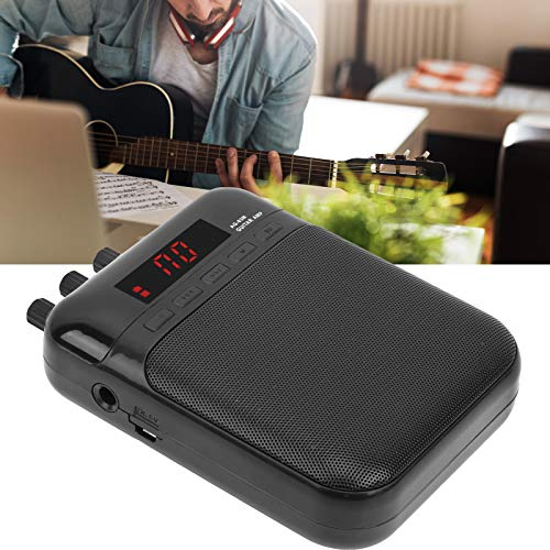 Práctica altavoz de guitarra, amplificador de aroma, metal con clip de cinturón Pedal de efecto de distorsión USB portátil para niños musicales que juegan en casa