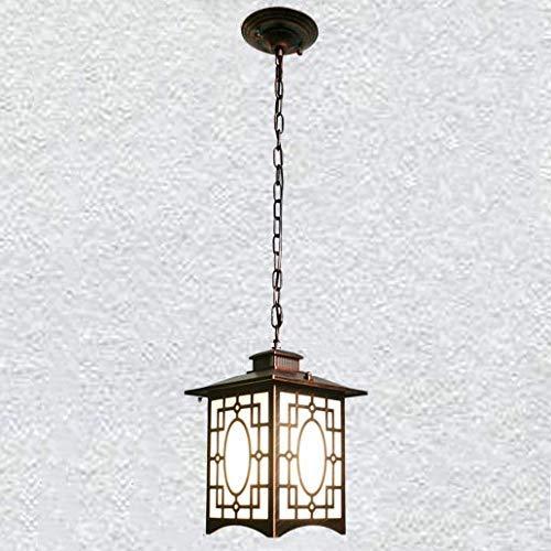 Lámpara de Pared, pérgola de jardín Luces alimentadas Que cuelgan para la Canasta de luz Cubierta Transparente de Metal de Cobre Tallado Hueco Luz Colgante de Techo Soportes Retro Lámpara de Pared p