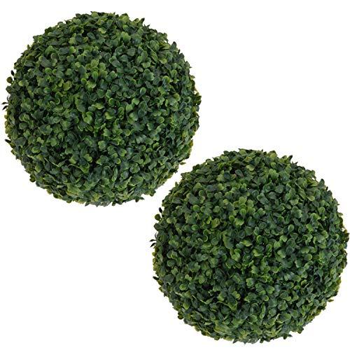 Cuasting Lot de 2 boules de buis topiaire en plastique à suspendre - 35 cm