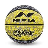 Nivia Graffiti Basketball - Size: 7 (Yellow)